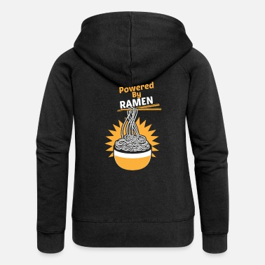 Powered By RAMES Funny Funny Asian Noodle Soup - Women's Premium Zip Hoodie