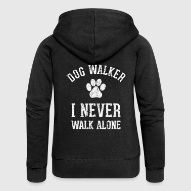 Dog walking funny shirt - Women's Premium Hooded Jacket