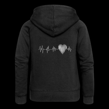 Heartbeat.Heart. - Women's Premium Hooded Jacket