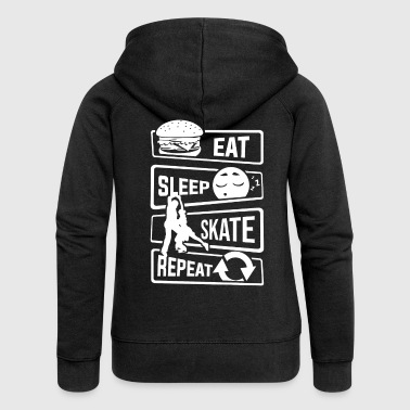 Eat Sleep Skate Repeat - Ice Skating Figure Skating - Women's Premium Hooded Jacket