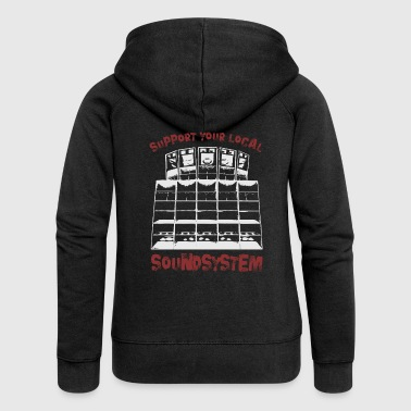 support your local soundsystem - Frauen Premium Kapuzenjacke