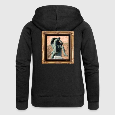 Antique statue in a chic setting - Women's Premium Hooded Jacket