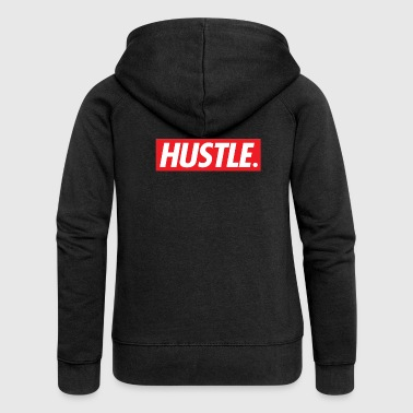 Hustle. - Women's Premium Hooded Jacket