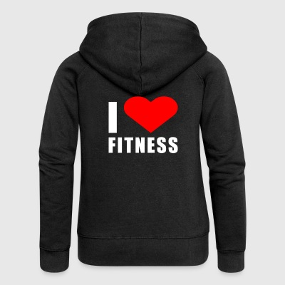 I LOVE FITNESS - Women's Premium Hooded Jacket
