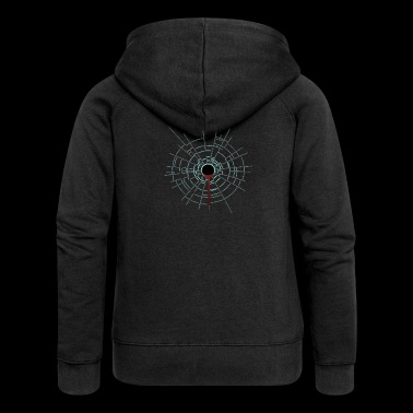 Bullet hole. Weapon. Shot. - Women's Premium Hooded Jacket