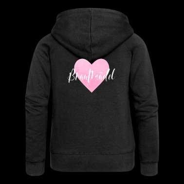 Bride girl heart pink hen party JGA - Women's Premium Hooded Jacket