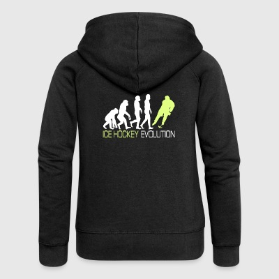 Evolution - Ice Hockey T-Shirt Gift - Women's Premium Hooded Jacket