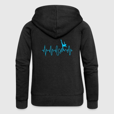 Heartbeat skating line graph pulse - Women's Premium Hooded Jacket