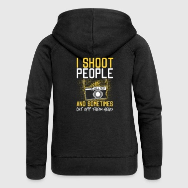 I Shoot People And Sometimes Cut Off Their Head - Women's Premium Hooded Jacket