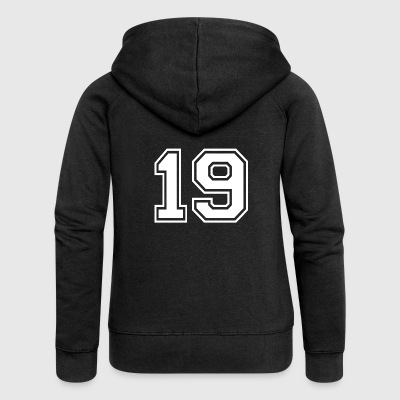 19 - AMERICAN FOOTBALL - Jersey shirt motif - Women's Premium Hooded Jacket
