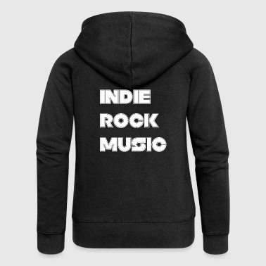 INDIE ROCK MUSIC - Women's Premium Hooded Jacket