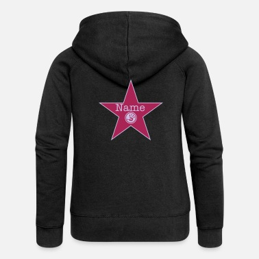 Los Angeles walk of fame + your name - Chaqueta con capucha premium mujer