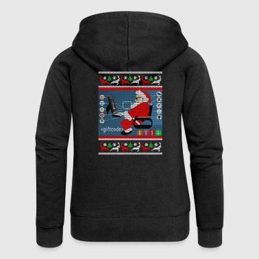 Programmer Gift Ugly Christmas Sweater - Women's Premium Hooded Jacket