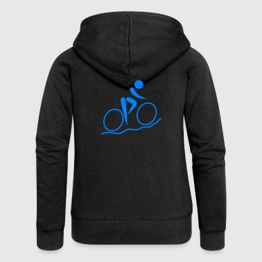 bicycle mountain bike cyclist mountain bike - Women's Premium Hooded Jacket