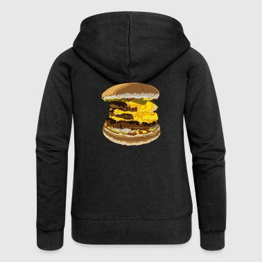 A tasty burger - Women's Premium Hooded Jacket