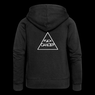 FUCK CANCER TRIANGLE RIBBON KAMP AGAINST CANCER - Women's Premium Hooded Jacket