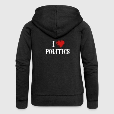 Politics love government gift - Women's Premium Hooded Jacket