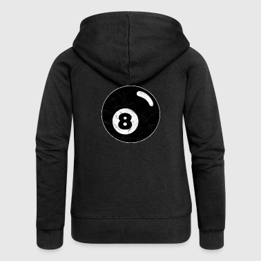 Billiard billiard ball black eight eight vintage - Women's Premium Hooded Jacket