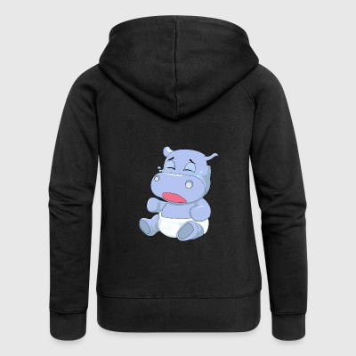 Baby Hippo Crying - Women's Premium Hooded Jacket