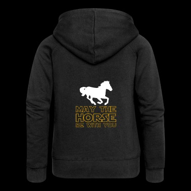 Star and wars gift horse - Women's Premium Hooded Jacket