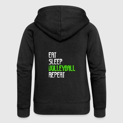 EAT SLEEP VOLLEYBALL REPEAT - Women's Premium Hooded Jacket