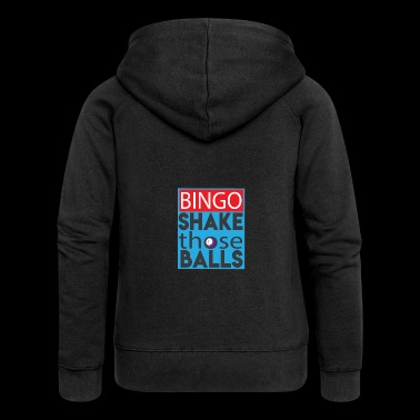 Shake Those Ball Funny Bingo Lover Shirt - Women's Premium Hooded Jacket