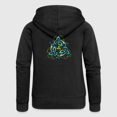 Celtic Flower - Women's Premium Hooded Jacket