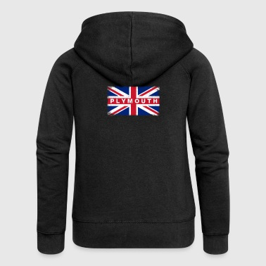 Plymouth Shirt Vintage United Kingdom Flag T-Shirt - Women's Premium Hooded Jacket