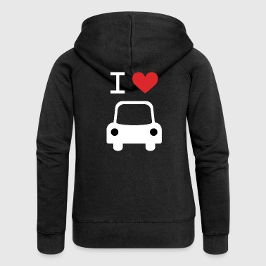 I love Car - Women's Premium Hooded Jacket