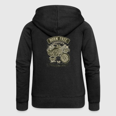 Born Free Choppers. Retro Motorcycle & Chopper shirt - Vrouwenjack met capuchon Premium