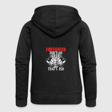 firefighter dont go grey - Frauen Premium Kapuzenjacke