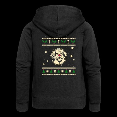 Leonberger Christmas Gift - Women's Premium Hooded Jacket