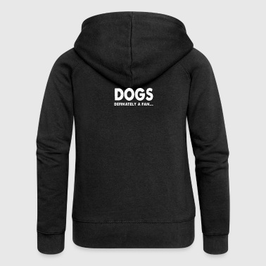 Dog Fan Love Barking Gentleman Wuff gift - Women's Premium Hooded Jacket