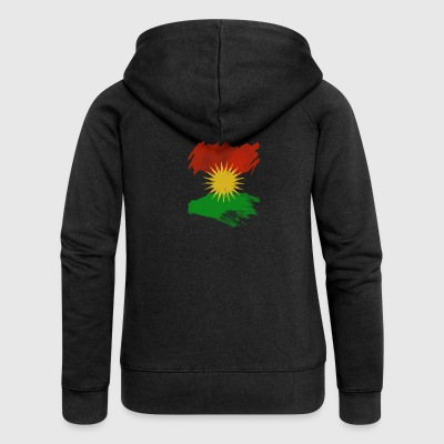 Kurdistan flag, Kurdistan flag - Women's Premium Hooded Jacket