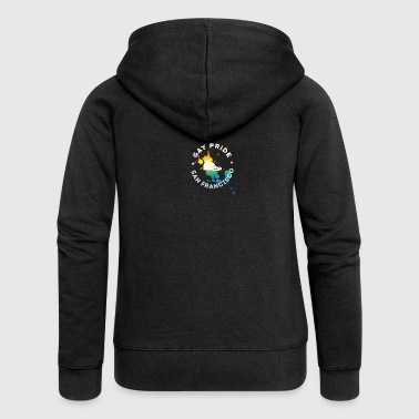 Gay Unity Respect Pride happy rainbow sneaker l - Women's Premium Hooded Jacket