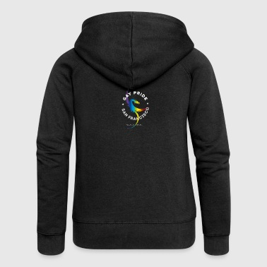 Gay Pride kite rainbow United csd parade gam - Women's Premium Hooded Jacket