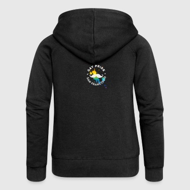 Gay Pride Beard Hipster Csd Splash Rainbow lol - Women's Premium Hooded Jacket