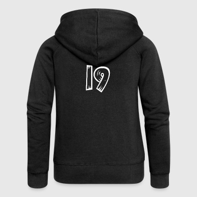 Number 19 Nineteen Nineteen wood optics HATRIK DESIGN - Women's Premium Hooded Jacket
