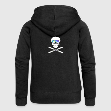 Skull with ski goggles - Women's Premium Hooded Jacket