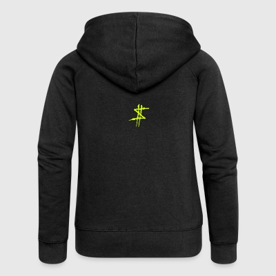 Dollar sign yellow - Women's Premium Hooded Jacket