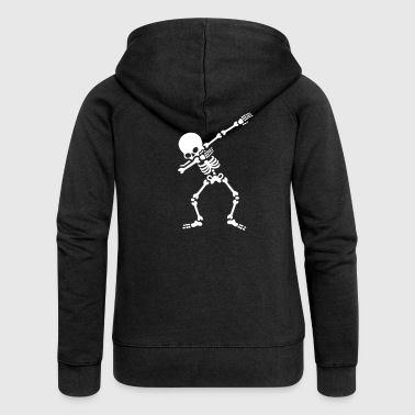 Dabbing skeleton (Dab) - Women's Premium Hooded Jacket