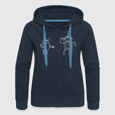 Robo Dance - Women's Premium Hooded Jacket