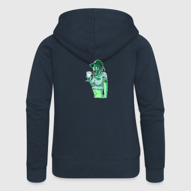 Absinthe Pinup - Women's Premium Hooded Jacket