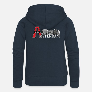Large Amsterdam with a large A - Women's Premium Zip Hoodie