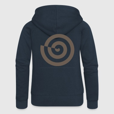 Spiral snail mystic sign magic Celts - Women's Premium Hooded Jacket