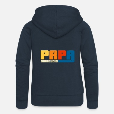 Papa 2010 Dad since 2010 - Women's Premium Zip Hoodie