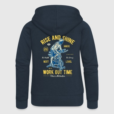 Rise and Shine - Sport Gym Fitness Workout Shirt - Rozpinana bluza damska z kapturem Premium