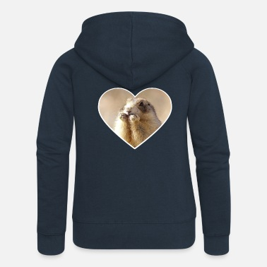 Rodent rodent rodents heart cute - Women's Premium Zip Hoodie