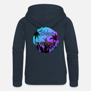 Spain Ibiza Club Party - Women's Premium Zip Hoodie