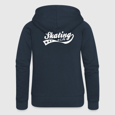 Roller Skating skating is life - retro - Women's Premium Hooded Jacket